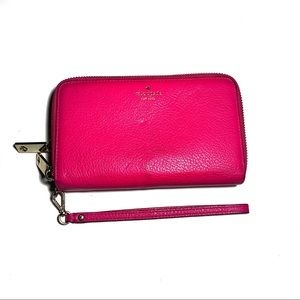 Kate Spade Hot Pink Leather Classic Wallet